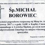 Ś.P. Michał Borowiec 16.06.2017r. Lwówek Śląski