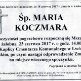 Ś.P. Maria Koczmara 18.06.2017r. Lwówek Śląski