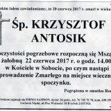 Ś.P. Krzysztof Antosik 20.06.2017r. Lwówek Śląski, Sobota