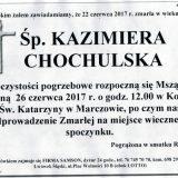 Ś.P. Kazimiera Chochulska 22.06.2017r. Lwówek Śląski, Marczów