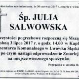 Ś.P. Julia Salwowska 30.06.2017r. Lwówek Śląski