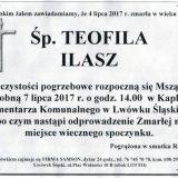 Ś.P. Teofila Ilasz 04.07.2017r. Lwówek Śląski