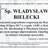 Ś.P. Władysław Bielecki 06.07.2017r. Lwówek Śląski, Płóczki Górne