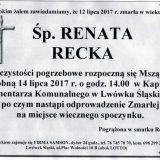 Ś.P. Renata Recka 12.07.2017r. Lwówek Śląski