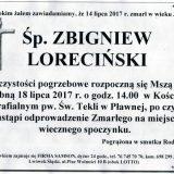 Ś.P. Zbigniew Loreciński 14.07.2017r. Lwówek Śląski, Pławna