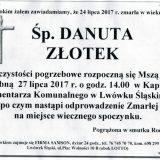 Ś.P. Danuta Złotek 24.07.2017r. Lwówek Śląski