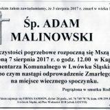 Ś.P. Adam Malinowski 03.08.2017r. Lwówek Śląski