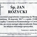 Ś.P. Jan Różycki 15.08.2017r. Lwówek Śląski