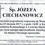 Ś.P. Józefa Ciechanowicz 20.08.2017r. Lwówek Śląski