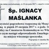 Ś.P. Ignacy Maślanka 23.08.2017r. Lwówek Śląski, Wleń