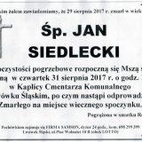 Ś.P. Jan Siedlecki 29.08.2017r. Lwówek Śląski