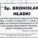 Ś.P. Bronisław Hładki 01.09.2017r. Lwówek Śląski, Wleń