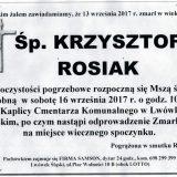 Ś.P. Krzysztof Rosiak 13.09.2017r. Lwówek Śląski