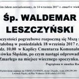 Ś.P. Waldemar Leszczyński 14.09.2017r. Lwówek Śląski