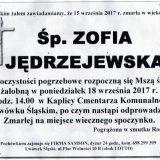 Ś.P. Zofia Jędrzejewska 15.09.2017r. Lwówek Śląski