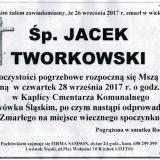 Ś.P. Jacek Tworkowski 26.09.2017r. Lwówek Śląski