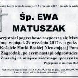 Ś.P. Ewa Matuszak 02.09.2017r. Lwówek Śląski, Zagrodno
