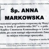 Ś.P. Anna Markowska 09.10.2017r. Lwówek Śląski