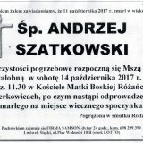 Ś.P. Andrzej Szatkowski 11.10.2017r. Lwówek Śląski, Żerkowice