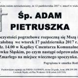 Ś.P. Adam Pietruszka 12.10.2017r. Lwówek Śląski