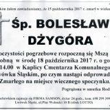 Ś.P. Bolesław Dżygóra 15.10.2017r. Lwówek Śląski