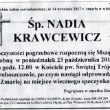 Ś.P. Nadia Krawcewicz 14.09.2017r. Złotoryja, Proboszczów