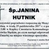 Ś.P. Janina Hutnik 21.10.2017r. Lwówek Śląski