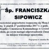 Ś.P. Franciszka Sipowicz 24.10.2017r. Lwówek Śląski