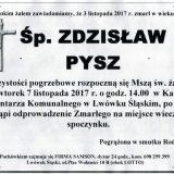 Ś.P. Zdzisław Pysz 03.11.2017r. Lwówek Śląski