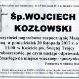 Ś.P. Wojciech Kozłowski 15.11.2017r. Złotoryja, Proboszczów