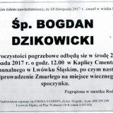 Ś.P. Bogdan Dzikowicki 18.11.2017r. Lwówek Śląski