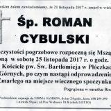 Ś.P. Roman Cybulski 21.11.2017r. Lwówek Śląski, Płóczki Górne