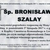 Ś.P. Bronisława Szalay 23.11.2017r. Lwówek Śląski