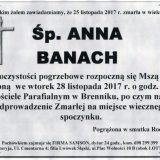 Ś.P. Anna Banach 25.11.2017r. Złotoryja, Brennik