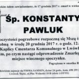 Ś.P. Konstanty Pawluk 17.12.2017r. Lwówek Śląski