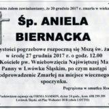 Ś.P. Aniela Biernacka 20.12.2017r. Lwówek Śląski