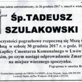 Ś.P. Tadeusz Szulakowski 26.12.2017r. Lwówek Śląski