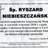 Ś.P. Ryszard Niebieszczański 01.01.2018r. Lwówek Śląski