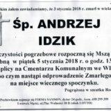 Ś.P. Andrzej Idzik 03.01.2018r. Lwówek Śląski, Wleń