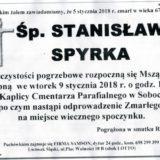 Ś. P. Stanisław Spyrka 05.01..2018r. Lwówek Śląski, Sobota