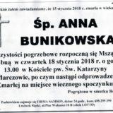 Ś.P. Anna Bunikowska 15.01.2018r. Lwówek Śląski, Marczów