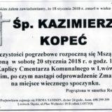 Ś.P. Kazimierz Kopeć 18.01.2018r. Lwówek Śląski