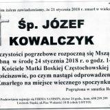 Ś.P. Józef Kowalczyk 21.01.2018r. Lwówek Śląski, Gościszów