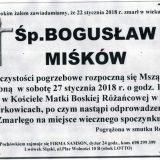 Ś.P. Bogusław Miśków 22.01.2018r. Lwówek Śląski, Żerkowice