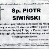 Ś.P. Piotr Siwiński 22.01.2018r. Złotoryja, Proboszczów
