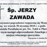 Ś.P. Jerzy Zawada 25.01.2018r. Lwówek Śląski, Pławna