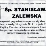 Ś.P. Stanisława Zalewska 29.01.2018r. Lwówek Śląski