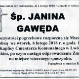 Ś.P. Janina Gawęda 02.02.2018r. Lwówek Śląski