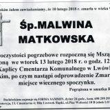 Ś.P. Malwina Matkowska 10.02.2018r. Lwówek Śląski