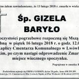 Ś.P. Gizela Baryło 13.02.2018r. Lwówek Śląski